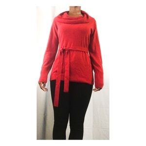 Jaclyn Smith | NWOT Red Tie Waist sweater
